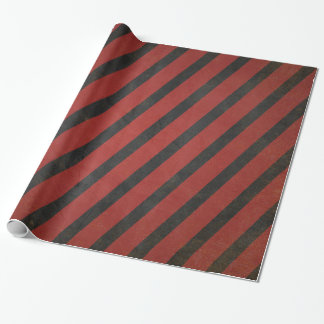Vintage red and black striped ラッピングペーパー