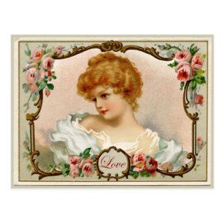 Vintage Reproduction Postcard美しい女性 ポストカード