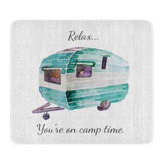 Vintage Retro Camper Camping Cutting Board カッティングボード