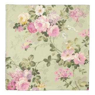 Vintage Roses Victorian Floral 掛け布団カバー