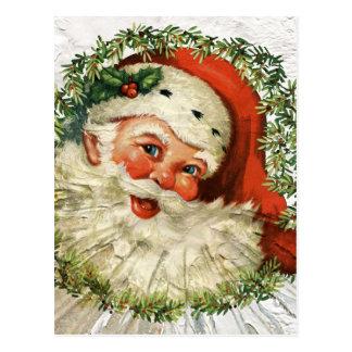 Vintage Santa Grunge ポストカード