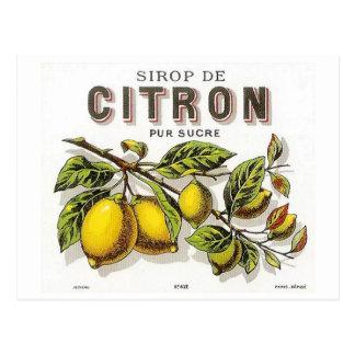 Vintage Sirop de Citron Ad ポストカード