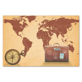Vintage Style, Map of World Print 薄葉紙