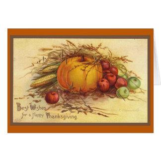 Vintage Thanksgiving カード