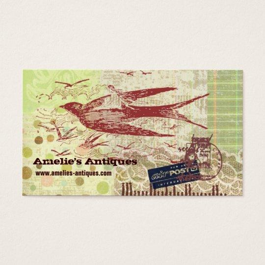 Vintage Thumbelina Collage Profile Card 名刺