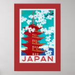 Vintage Travel Poster Japan ポスター