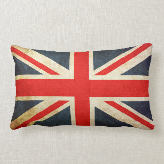 Vintage Union Jack British Flag Lumbar Pillow ランバークッション