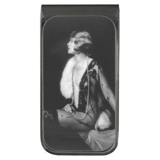 Vintage Ziegfeld Follies ガンメタル マネークリップ
