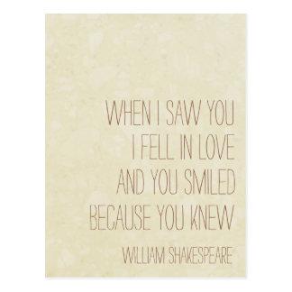 VintageLove -ウィリアム・シェイクスピアの引用文-郵便はがき ポストカード