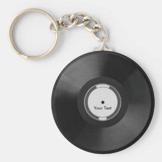 Vinyl.Record ベーシック丸型缶キーホルダー