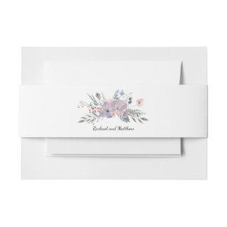 Violet Meadow Floral Wedding 招待状ベリーバンド