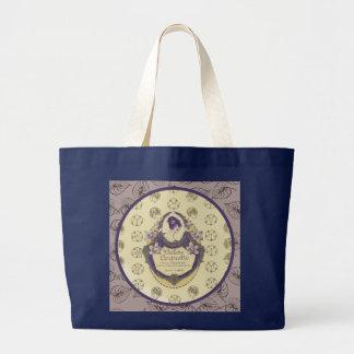Violette Coquette French Soap Label ラージトートバッグ