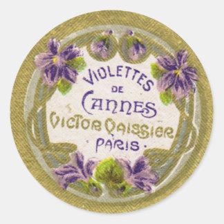 Violettesの香水のラベル、パリの1900年代 ラウンドシール