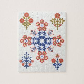 Violiet、アイリスおよびチューリップのモチーフの壁紙は、pr設計します ジグソーパズル