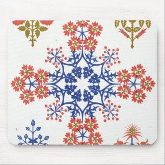 Violiet、アイリスおよびチューリップのモチーフの壁紙は、pr設計します マウスパッド