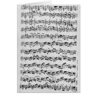 「ViolinのためのDの未成年者のPartitaのコピー カード