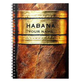 VipのキューバのシガーのHabanaの名前入りなノート ノートブック