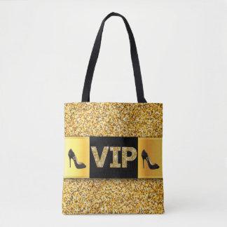 VIPの金ゴールドのダイヤモンドのハイヒール トートバッグ
