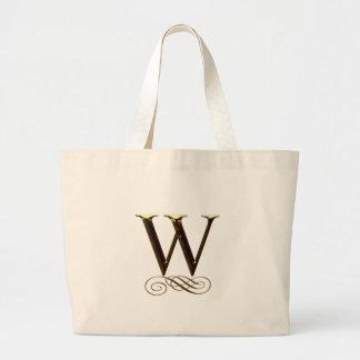 """VIPの金ゴールド"""" W""""のモノグラム ラージトートバッグ"""