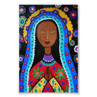 Virginグアダルペ私達の女性 フォトプリント