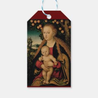 Virgin Child Under Apple Tree Cranach ギフトタグ