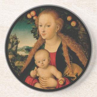 Virgin Child Under Apple Tree Cranach コースター