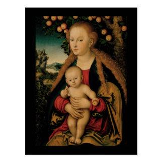 Virgin Child Under Apple Tree Cranach ポストカード