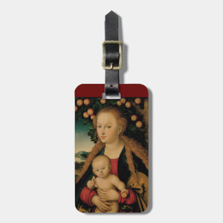 Virgin Child Under Apple Tree Cranach ラゲッジタグ