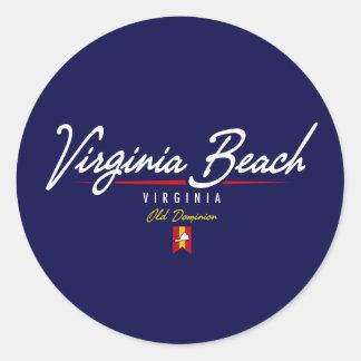 Virginia Beachの原稿 ラウンドシール
