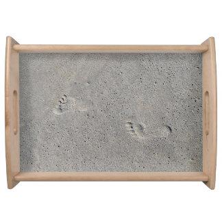 Virginia Beachの砂の足のプリント トレー