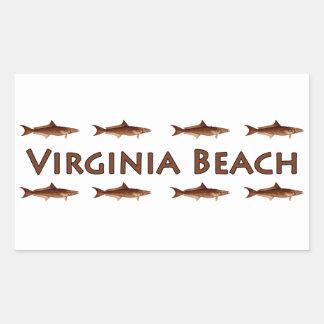 Virginia BeachのCobiaの海の魚のロゴ 長方形シール