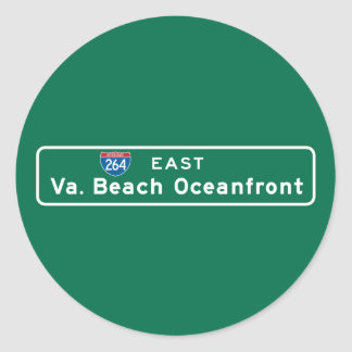 Virginia BeachのVAの交通標識 ラウンドシール