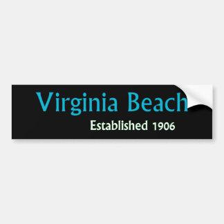 Virginia Beachは車のバンパーステッカーを確立しました バンパーステッカー