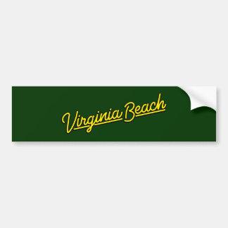 Virginia Beachは黄色をネオンサイン バンパーステッカー