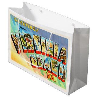 Virginia BeachヴァージニアVAのヴィンテージ旅行郵便はがき ラージペーパーバッグ