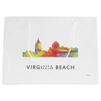 VIRGINIA BEACH、ヴァージニアのスカイラインWB1 - ラージペーパーバッグ