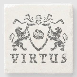 VirtusのHeraldic大理石の石造りのコースター ストーンコースター