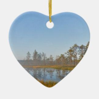 Viruの沼地、エストニアの日の出 セラミックオーナメント