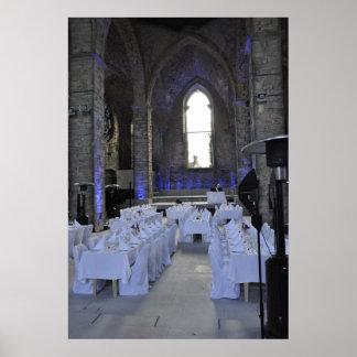 Visbyゴトランドの島の結婚式の宴会教会台なし ポスター
