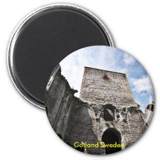 Visbyスウェーデン、ゴトランドスウェーデンの教会台なし 磁石