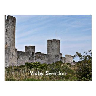 Visby、Visbyゴトランドスウェーデンの城 はがき