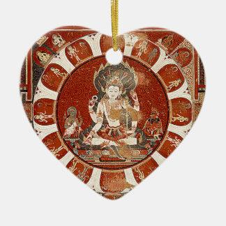 Vishnuの曼荼羅 セラミックオーナメント