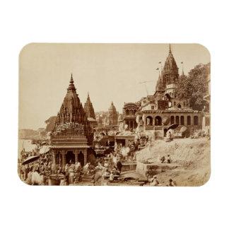 Vishnu Pudおよび他の寺院、Benares (セピア色の写真 マグネット