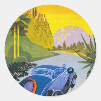 VisitezのLaのGrece Enの自動車のステッカー ラウンドシール