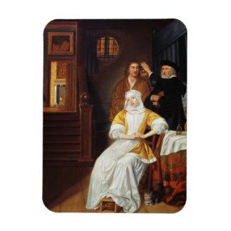 Visiting博士寝室(油oの若い女性 マグネット