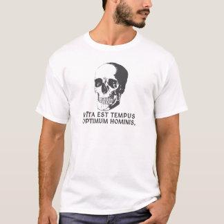 Vīta米国東部標準時刻tempusの最適hominis. Tシャツ