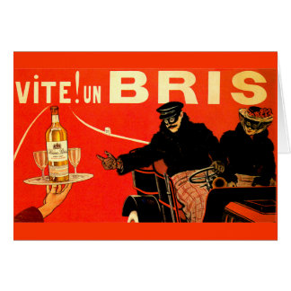 Vite! 国連Bris KinaのBrisのアルコール飲料のヴィンテージの1904年の広告 カード