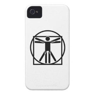 Vitruvianの人のピクトグラムのiphone 4ケース Case-Mate iPhone 4 ケース
