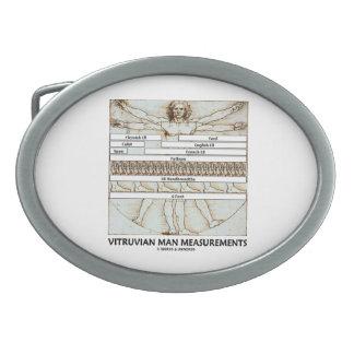 Vitruvianの人の測定(レオナルド・ダ・ヴィンチ) 卵形バックル