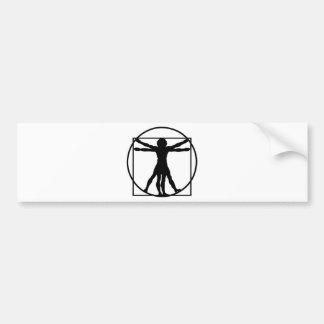Vitruvianの人 バンパーステッカー